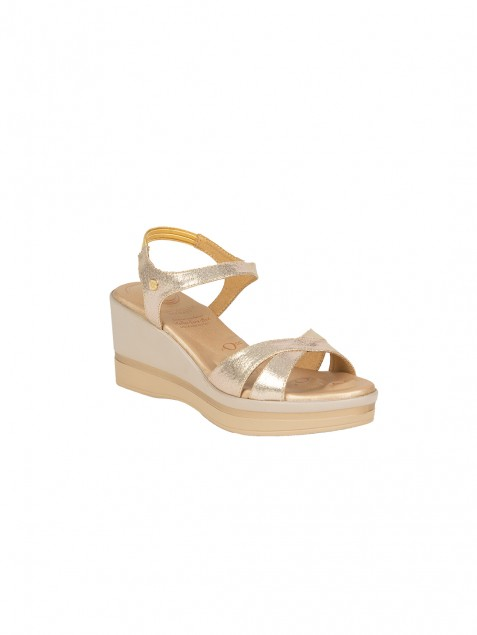 Buy Von Wellx Germany Comfort Skylar Golden Sandals Online in Ludhiana