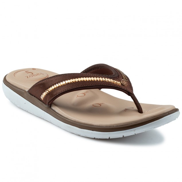 Buy Von Wellx Molly Comfort Brown Slipper Online in Ahmedabad