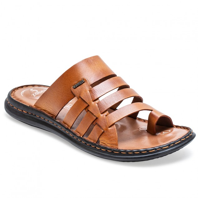 Buy Von Wellx Amble Casual Tan Slide Online in Dammam