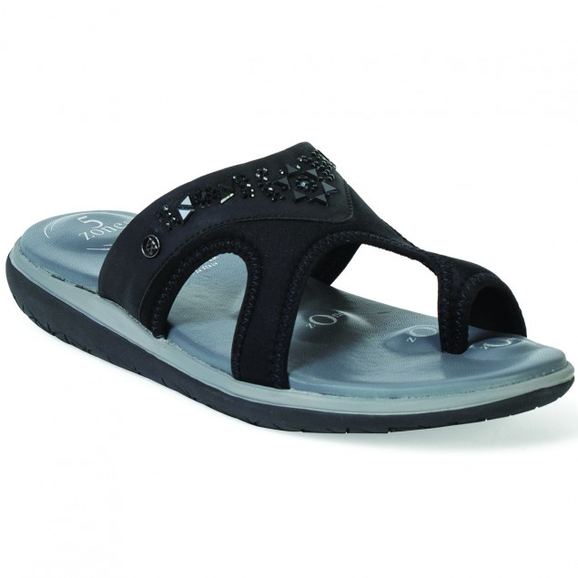 Buy VON WELLX GERMANY COMFORT HALE BLACK SLIPPERS In Delhi