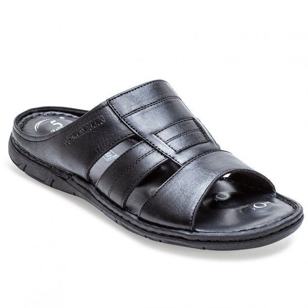 Buy Von Wellx Germany Comfort Gait Black Slippers Online in Srinagar