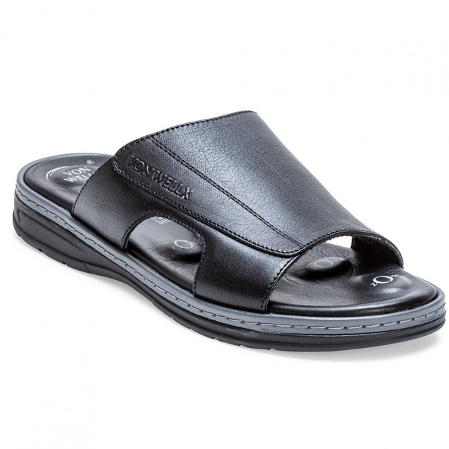Buy Von Wellx Germany Comfort Saunter Black Slippers Online in Bangalore