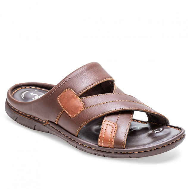 Buy Von Wellx Germany Comfort Rove Brown Slippers Online in Srinagar