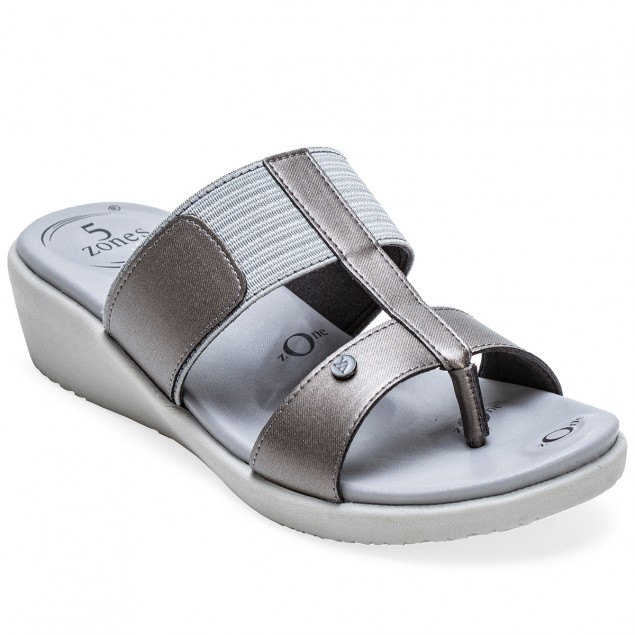 Buy Von Wellx Germany Comfort Glaze Gun Metal Slippers Online in Ahmedabad