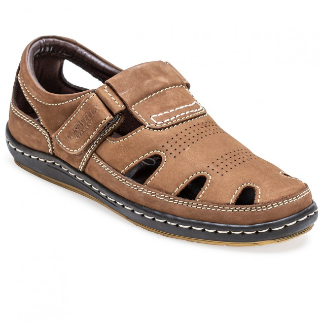 Buy Von Wellx Germany Comfort Tread Chikoo Sandals Online in Bangalore