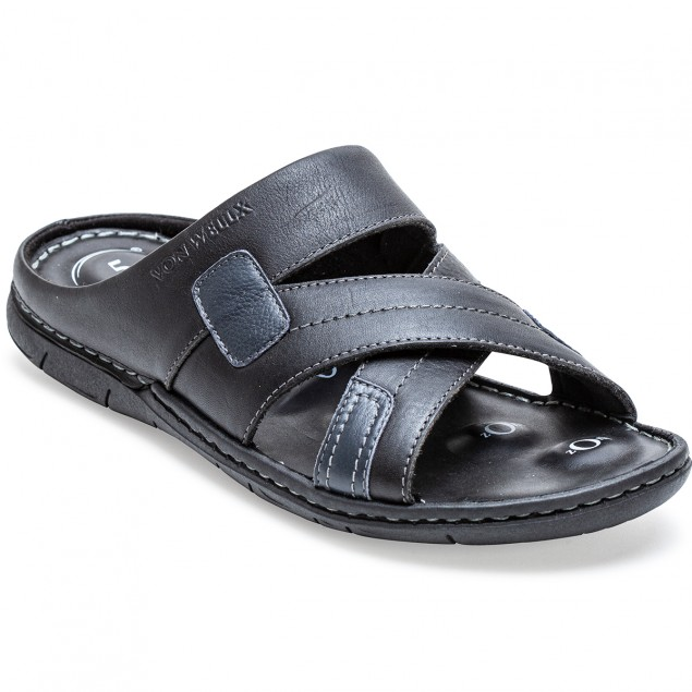 Buy Von Wellx Germany Comfort Rove Black Slippers Online in Srinagar