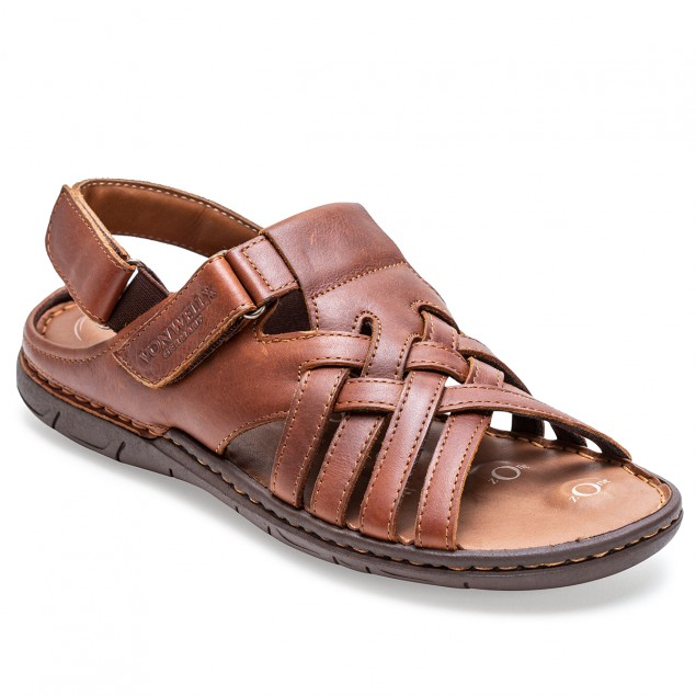 Buy Von Wellx Germany Comfort Stride Tan Sandals Online in Bangalore