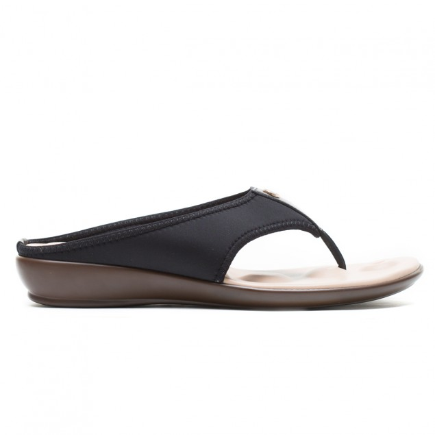 Buy VON WELLX JOANNA COMFORT BLACK SLIPPERS In Delhi