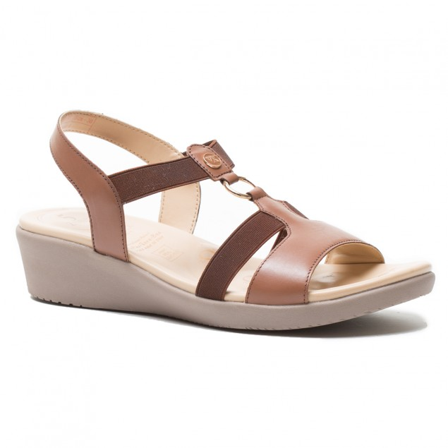 Buy Von Wellx Amos Comfort Tan Sandals Online in Ludhiana