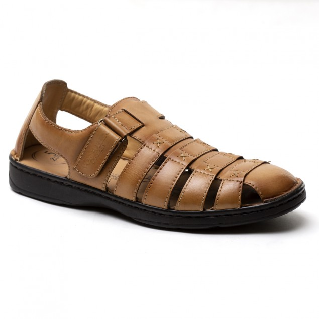 Buy Von Wellx Germany Comfort Melvil Tan Sandals Online in Maharashtra