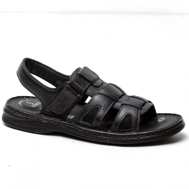 Buy Von Wellx Germany Comfort Rhys Black Sandals Online in Mumbai