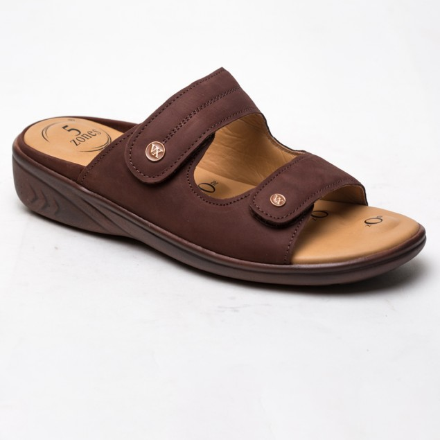 Buy Von Wellx Germany Comfort Zora Brown Slides Online in West Bengal