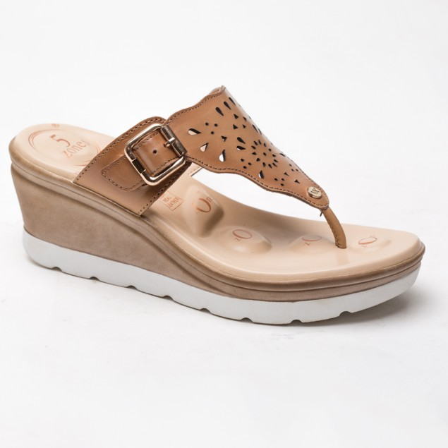 Buy Von Wellx Germany Comfort Ella Beige Slippers Online in Ahmedabad