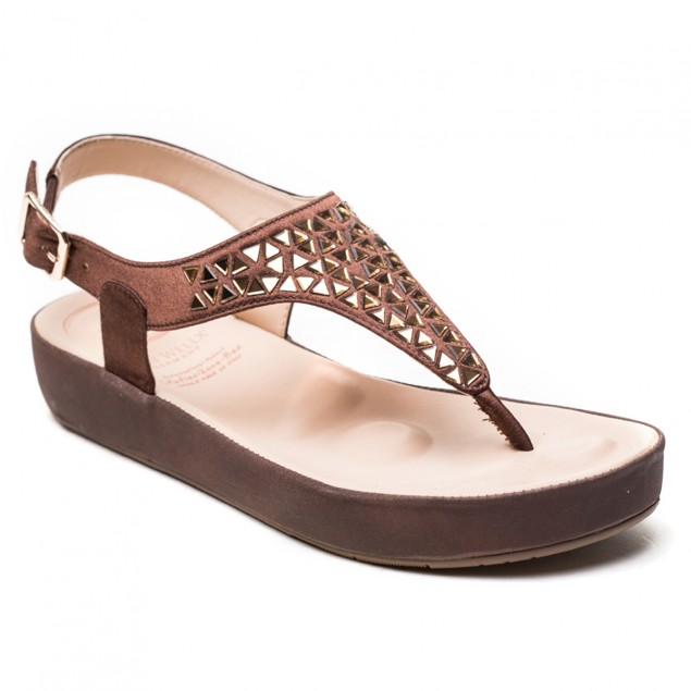 Buy Von Wellx Haven Comfort Brown Sandal Online in Ranchi