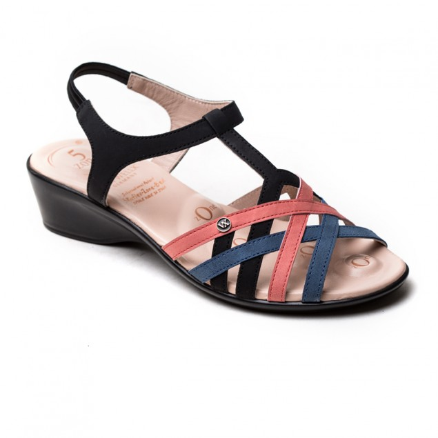 Buy VON WELLX CHLOE COMFORT BLACK SANDAL In Delhi