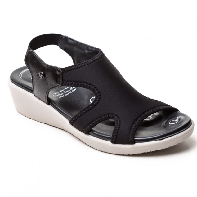 Buy VON WELLX GERMANY COMFORT SHIRLEY BLACK SANDALS In Delhi