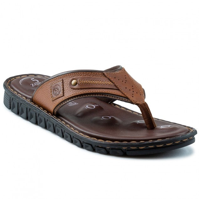 Buy Von Wellx Elmer Comfort Tan Slippers Online in Srinagar